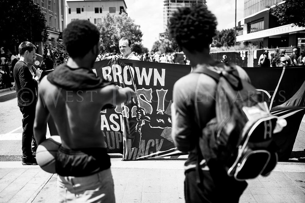 Durham Anti-KKK Rally, Sept. 18, 2017, downtown Durham, N.C.