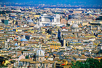 View of Rome from the dome of St. Peter's Basilica, Vatican, Rome, Italy