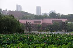 July 6, 2018 - Huai'An, Huai'an, China - Huai'an, CHINA-Tourists enjoy lotus blossoms at Bochi Hill Park in Huai'an, east China's Jiangsu Province. (Credit Image: © SIPA Asia via ZUMA Wire)