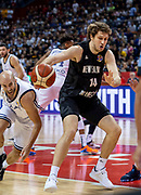 NANJING,CHINA:SEPTEMBER 5th 2019.FIBA World Cup Basketball 2019 Group phase match.Group F. New Zealand vs Greece.Center, Rob LOE.<br /> Photo by Jayne Russell / www.PhotoSport.nz