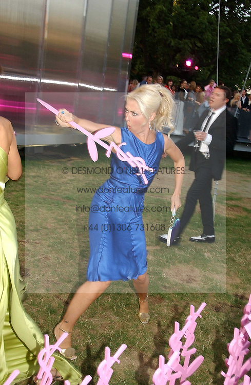 TAMARA BECKWITH at the Serpentine Gallery Summer party sponsored by Yves Saint Laurent held at the Serpentine Gallery, Kensington Gardens, London W2 on 11th July 2006.<br />