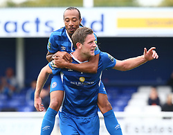 October 7, 2017 - Billericay, England, United Kingdom - Adam Cunnington of Billericay Town celebrates scoring his sides third goal .during Bostik League Premier Division match between Billericay Town against Hendon FC at New Lodge Ground, Billericay on 07 Oct 2017  (Credit Image: © Kieran Galvin/NurPhoto via ZUMA Press)