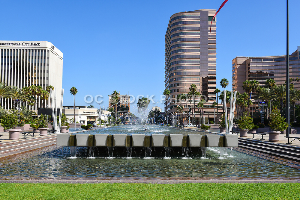 Water Fountain At Long Beach Performing Arts Center