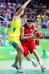 England's Rachael Vanderwal (right) in action in the Women's Gold Medal Game at the Gold Coast Convention and Exhibition Centre during day ten of the 2018 Commonwealth Games in the Gold Coast, Australia.