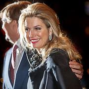 NLD/Amsterdam/20150320 - Koning Willem - Alexander en Koningin Maxima bij afscheidsconcert dirigent Mariss Jansons Concertgebouw Amsterdam,