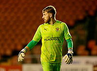 Football - 2021 / 2022 EFL Carabao Cup - Round Two - Blackpool vs. Sunderland -Bloomfield Road - Tuesday 24th August 2021<br /> <br /> Blackpool keeper Dan Grimshaw, at Bloomfield Road.<br /> <br /> COLORSPORT/Alan Martin