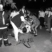 NLD/Huizen/19910823 - Explosie en brand Impala Huizen, 1 zwaargewonde