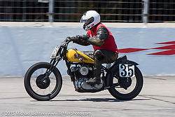 Doc Batsleer Vintage road racing at New Hampshire Motor Speedway during Laconia Motorcycle Week. Laconia, NH, USA. June 14, 2015.  Photography ©2015 Michael Lichter.