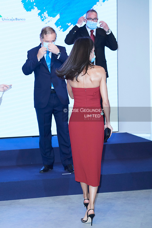 Queen Letizia of Spain attends a dinner in honour of 'Mariano de Cavia', 'Mingote' and 'Luca de Tena' Awards celebrating its 100 edition at ABC on July 13, 2020 in Madrid, Spain