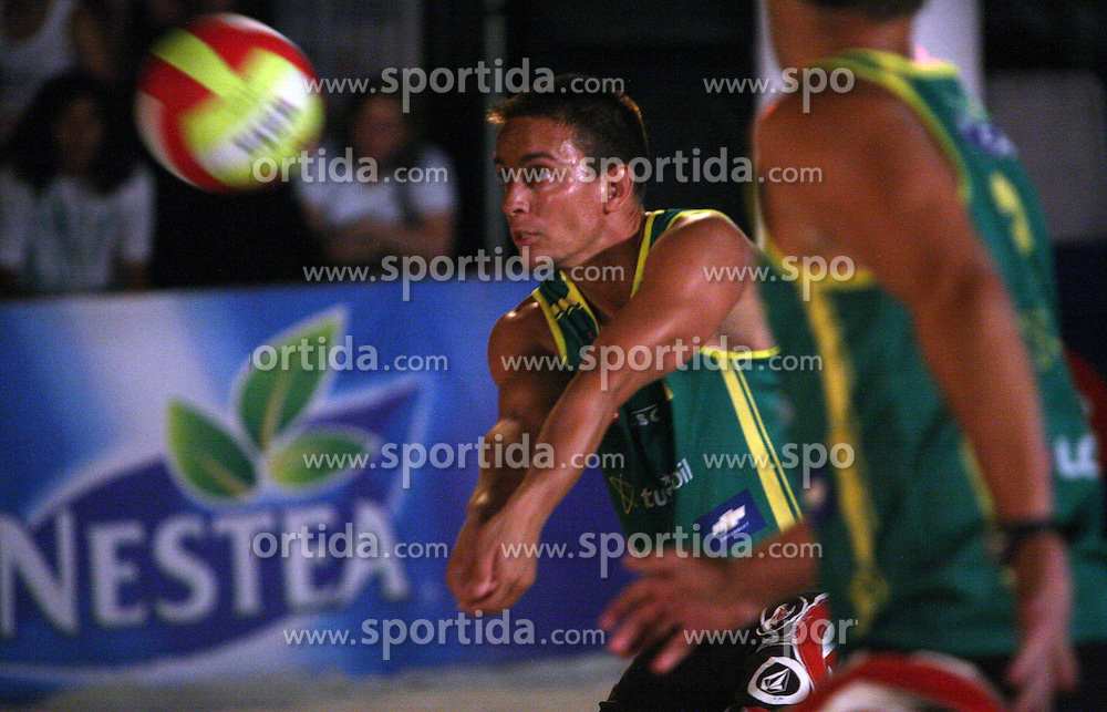 Saso Rop (Tadeja Brankovic Sport Team) at qualifications for 14th National Championship of Slovenia in Beach Volleyball and also 4th tournament of series TUSMOBIL LG presented by Nestea, on July 25, 2008, in Kranj, Slovenija. (Photo by Vid Ponikvar / Sportal Images)/ Sportida)