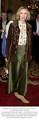 Designer ALLEGRA HICKS, at a party in London on 29th April 2002.<br />OZL 164