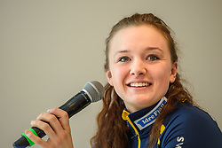 March 15, 2019 - –Stersund, Sweden - 190315 Linn Persson of Sweden at a press conference with the Swedish Biathlon team during the IBU World Championships Biathlon on March 15, 2019 in Östersund..Photo: Petter Arvidson / BILDBYRÃ…N / kod PA / 92267 (Credit Image: © Petter Arvidson/Bildbyran via ZUMA Press)
