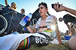 September 24, 2017 - Waterloo, UNITED STATES - Belgian world champion Wout Van Aert pictured after the 'Trek CX Cup' cyclocross cycling race, the second stage of the world cup cyclocross in Waterloo (WI), USA, Sunday 24 September 2017. BELGA PHOTO DAVID STOCKMAN (Credit Image: © David Stockman/Belga via ZUMA Press)
