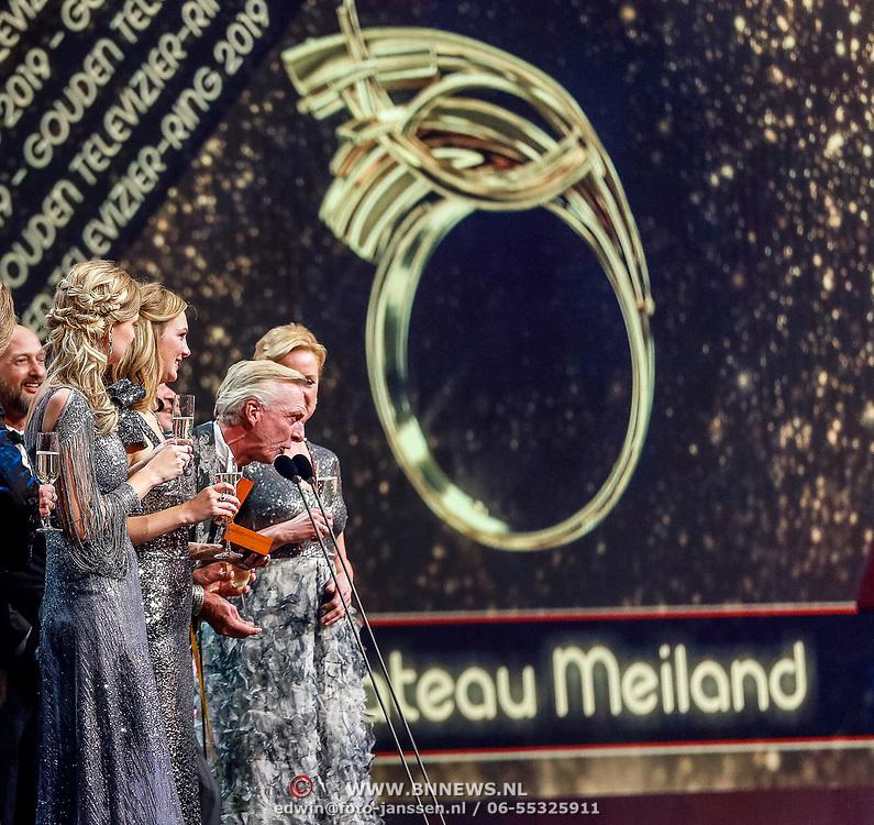 NLD/Amsterdam/20191009 - Uitreiking Gouden Televizier Ring Gala 2019, Chateau Meiland wint de Gouden televizier ring 2019
