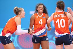20150619 AZE: 1ste European Games Baku Servie - Nederland, Bakoe<br /> Nederland verslaat Servie met 3-2 /Celeste Plak #4, Maret Balkestein-Grothues #6