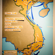 A maps showing the military campaigns of the First Indochina War against the colonial French armies. The museum was opened on July 17, 1956, two years after the victory over the French at Dien Bien Phu. It is also known as the Army Museum (the Vietnamese had little in the way of naval or air forces at the time) and is located in central Hanoi in the Ba Dinh District near the Lenin Monument in Lenin Park and not far from the Ho Chi Minh Mausoleum.