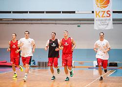 during Media day of Slovenian National basketball Team for Eurobasket 2013 on July 26, 2013 in Arena Jezica, Ljubljana, Slovenia. (Photo by Vid Ponikvar / Sportida.com)