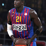 FC Barcelona Regal's Boniface NDONG during their Euroleague group D matchday 5 Galatasaray between  FC Barcelona Regal at the Abdi Ipekci Arena in Istanbul at Turkey on Thursday, November 17 2011. Photo by TURKPIX