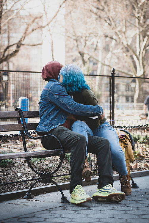 Chanon and Chay at Washington Square Park in New York City. (March 20, 2020)