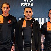 NLD/Amsterdam/20120223 - Presentatie nieuwe uit teneu Nederlands Elftal 2012 / 2013, Gregory van der Wiel, Revenge en Wesley Sneijder
