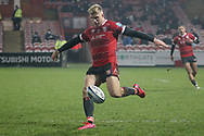 GLOUCESTER RUGBY'S Ollie Thorley  during the Gallagher Premiership Rugby match between Gloucester Rugby and Harlequins at the Kingsholm Stadium, Gloucester, United Kingdom on 6 December 2020.
