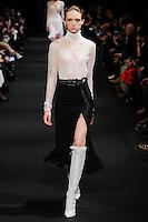 Adrienne Jüliger (DNA) walks the runway wearing Altuzarra Fall 2015 during Mercedes-Benz Fashion Week in New York on February 14, 2015