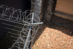 Barbed wire in the area of Bonnevoie, Luxembourg.