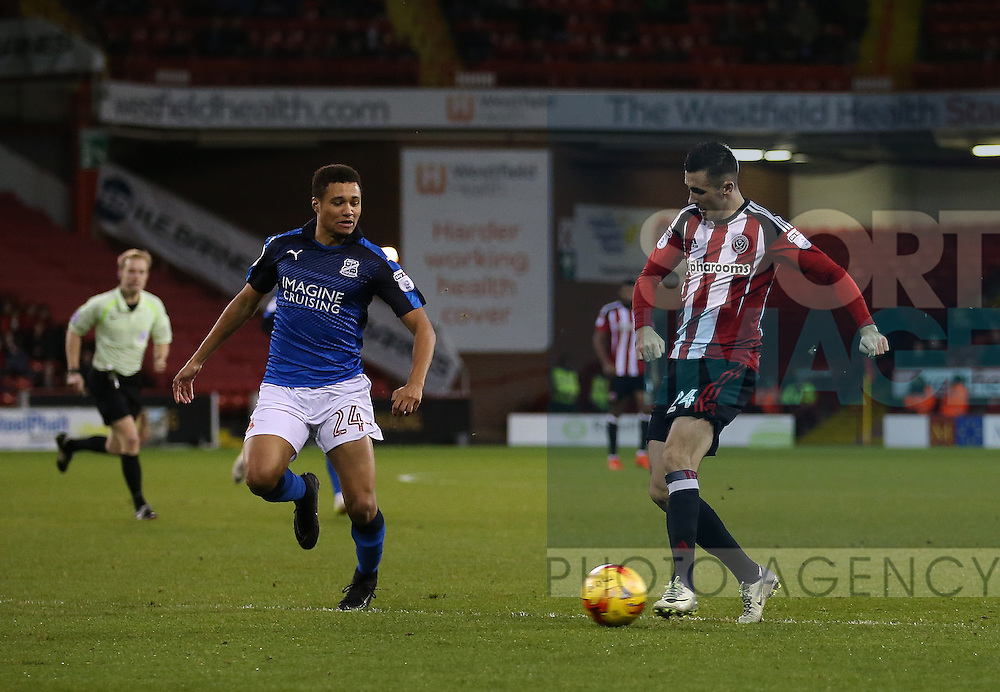 Danny Lafferty of Sheffield Utd during the English League One match at Bramall Lane Stadium, Sheffield. Picture date: December 10th, 2016. Pic Simon Bellis/Sportimage