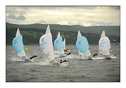 470 Class European Championships Largs - Day 3.Brighter conditions with more wind...Men,  Fleet, Downwind, GER55, Jasper WAGNER, Dustin BALDEWEIN, Verein Seglerhaus Am Wannsee