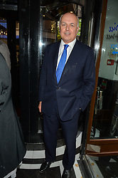 IAIN DUNCAN-SMITH MP at the Style for Soldiers dinner held at Le Caprice, 20 Arlington Street, London on 24th May 2016.