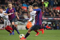 January 30, 2019 - Barcelona, BARCELONA, Spain - Coutinho of Barcelona in action during Spanish King championship, football match between Barcelona and Sevilla, January  30th, in Camp Nou Stadium in Barcelona, Spain. (Credit Image: © AFP7 via ZUMA Wire)
