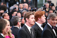 Kirsten Dunst, Garret Hedlund, Danny Morgan, Viggo Mortensen,  at the On The Road gala screening red carpet at the 65th Cannes Film Festival France. The film is based on the book of the same name by beat writer Jack Kerouak and directed by Walter Salles. Wednesday 23rd May 2012 in Cannes Film Festival, France.