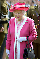 The Queen visits Berkhamsted School as part of the school's 475th Anniversary celebrations, in Berhamsted, Hertfordshire, UK, on the 6th May 2016.<br /> <br /> Picture by James Whatling