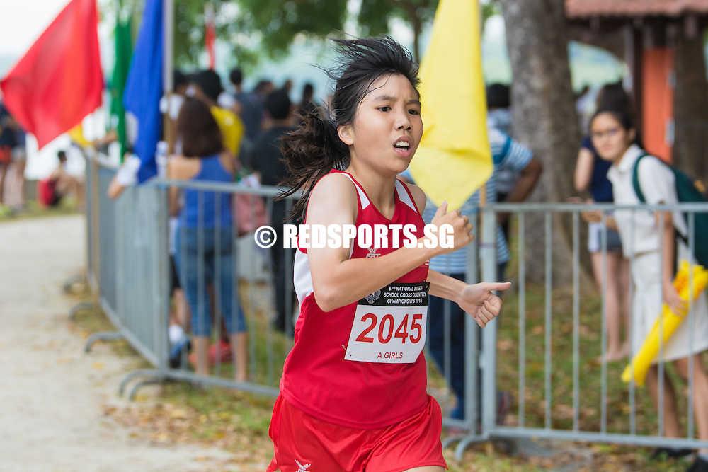 Valencia Awe of National Junior College came in eighth with a timing of 15:48.28 in the A Division Girls Category at the 57th National Schools Cross Country Championships. (Photo © Jerald Ang/Red Sports)
