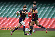Leigh Halfpenny of Wales in action during the Wales rugby captains run training session at the Millennium Stadium in Cardiff ,South Wales on Friday 4th Sept  2015. The team are preparing for their next RWC warm up match against Italy tomorrow.  pic by Andrew Orchard, Andrew Orchard sports photography.