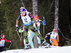 Miriam Goessner (GER) competes during Women 10 km Pursuit at day 3 of IBU Biathlon World Cup 2015/16 Pokljuka, on December 19, 2015 in Rudno polje, Pokljuka, Slovenia. Photo by Ziga Zupan / Sportida