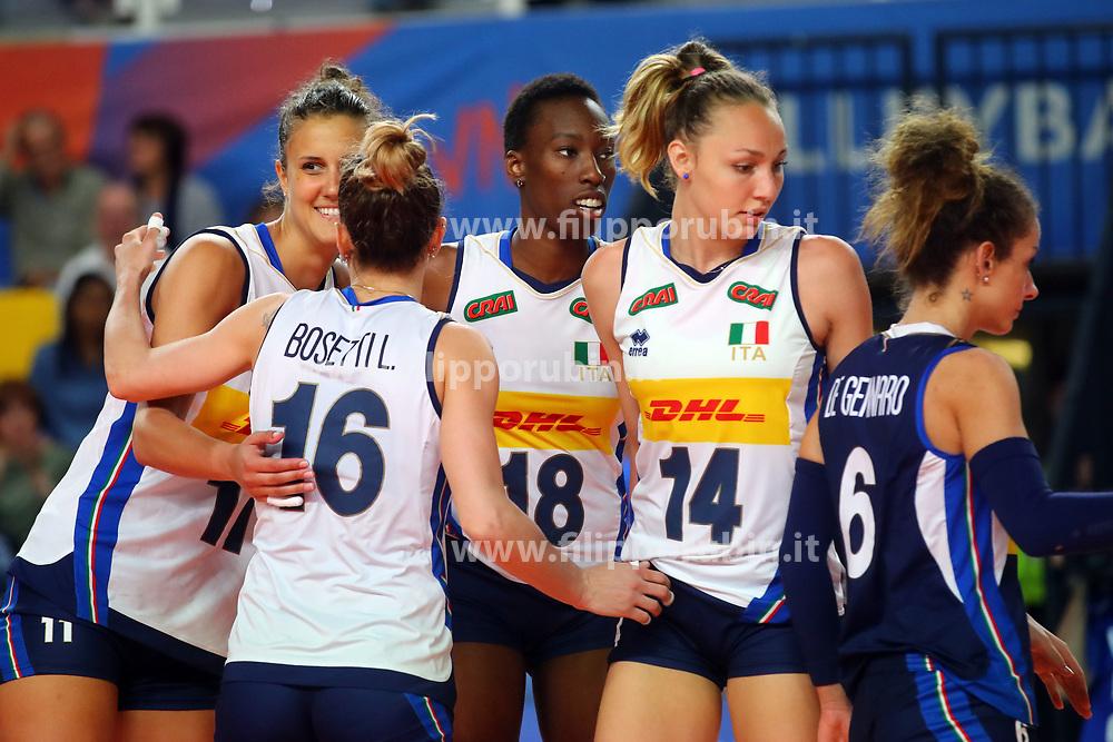 L'ITALIA ESULTA<br /> ITALIA - REPUBBLICA DOMINICANA<br /> PALLAVOLO VNL VOLLEY FEMMINILE 2019<br /> CONEGLIANO (TV) 28-05-2019<br /> FOTO FILIPPO RUBIN