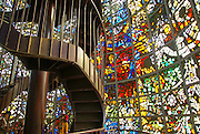 Japan, Honshu Island, Kanagawa Prefecture, Fuji Hakone National Park, Chokokunomori Sculpture Park and museum. Symphonic Sculpture by Gabriel Loire