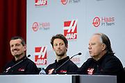 September 29, 2015: Guenther Steiner, Haas F1 Team principle, Romain Grosjean, Gene Haas Haas Formula 1 team.
