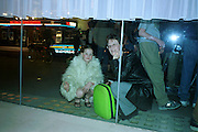 Watching the party from the outside  Pre Bafta party jointly hosted by Tina Brown and Elizabeth Murdoch. St. Martin's Lane Hotel. 8 April 2000<br />© Copyright Photograph by Dafydd Jones 66 Stockwell Park Rd. London SW9 0DA Tel 010 7733 0108 www.dafjones.com
