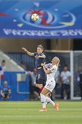 Elise BUSSAGLIA ( FRA ), Karina SAEVIK ( NOR ) in action during the match of 2019 FIFA Women's World Cup France group A match between FRANCE and NORWAY, at Allianz Riviera, Nice Arena on June 12, 2019 in Nice, France. Photo by Loic BARATOUX/ABACAPRESS.COM