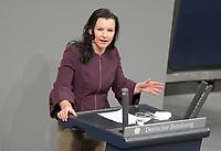 DEU, Deutschland, Germany, Berlin, 27.01.2021: Jana Schimke (CDU) in der Plenarsitzung im Deutschen Bundestag.