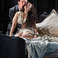 .Picture shows : Carmen Giannattasio  as Violetta Valéry and Federico Lepre as Alfredo Germont..La traviata by Giuseppe Verdi.A NEW SCOTTISH OPERA AND WELSH NATIONAL CO-PRODUCTION. Picture © Drew Farrell Tel : 07721 ?735041..Scottish Director David McVicar and Tanya McCallin, the creative team behind Scottish Opera?s Der Rosenkavalier, offer an authentic take on one of the world?s most famous operas. Bohemian artists, showgirls, courtesans ? the rich and the wretched mix together within the shady underworld of the Parisian demi-monde..Carmen Giannattasio makes her Scottish Opera début playing the lead role of Violetta, Federico Lepre sings Alfredo, and Richard Zeller returns to Scottish Opera as Giorgio Germont. French conductor  Emmanuel Joel-Hornak returns for this production...Cast.Carmen Giannattasio  as Violetta Valéry.Federico Lepre as Alfredo Germont.Richard Zeller as Giorgio Germont.Katherine Allen as Flora Bervoix.Adrian Powter as Baron Douphol.Nicholas Ransley as Gastone.Paul Carey Jones as Marchese D?Obigny.Alan Fairs as Doctor Grenvil.Catriona Barr as  Annina..Conductors  Emmanuel Joel-Hornak and (Derek Clark Nov 13 & 15).Director David McVicar.DesignerTanya McCallin.ChoreographerAndrew George..THEATRE ROYAL GLASGOW Thu 30 Oct 7.15pm ? Sat 1 Nov 7.15pm ? Fri 6 Feb 7.15pm Sun 8 Feb 4pm ? Thu 12 Feb 7.15pm ? Sat 14 Feb 7.15pm La traviata Unwrapped - Thurs 5 Feb 6pm ..EDEN COURT, INVERNESS Thu 6 Nov 7.15pm ? Sat 8 Nov 7.15pm  La traviata Unwrapped ? Wed 5 Nov 6pm..HIS MAJESTY?S THEATRE, ABERDEEN Thu 13 Nov 7.30pm ? Sat 15 Nov 7.30pm  La traviata Unwrapped ? Wed 12 Nov 6pm ..FESTIVAL THEATRE EDINBURGH Wed 19 Nov 7.15pm ? Sun 23 Nov 4pm  Thu 27 Nov 7.15pm ? Sat 29 Nov 7.15pm  La traviata Unwrapped - Tues 25 Nov 6pm ..GRAND OPERA HOUSE, BELFAST Thu 26 Feb time tbc ? Sat 28 Feb La traviata Unwrapped ? Fri 27 Feb time tbc..Note to Editors: This image is free to be used editorially in the promotion of Scottish Opera and this production. Without prejudice ALL othe
