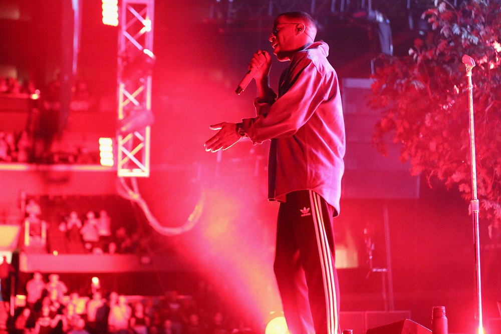 Kid Cudi performs at the 2017 BET Experience at The Staples Center on Thursday June 22, 2017, in Los Angeles. (Photo by Los Angeles/Invision/AP)