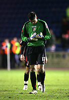 Photo: Paul Greenwood/Sportsbeat Images.<br /> Carlisle United v Swindon Town. Coca Cola League 1. 04/12/2007.<br /> Reaction at the final whistle for Swindon's Peter Brezovan