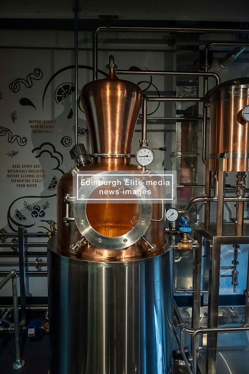 Pictured:The Holyrood Distiller uses a unique still designed and built in house.<br /><br />A new distillery for Edinburgh, The Holyrood Distillery, was available for viewing a day ahead of their official opening to the public on Tuesday 30 July 2019<br /><br /> Ger Harley | EEm 29 July 2019