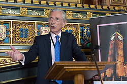© Licensed to London News Pictures. 18/07/2017. LONDON, UK.  NORMAN FOWLER, Lord Speaker speaks at a Pink News parliamentary reception to celebrate the 50th anniversary of decriminalisation on homosexuality, held at Speaker's House in the Palace of Westminster in London.  Photo credit: Vickie Flores/LNP