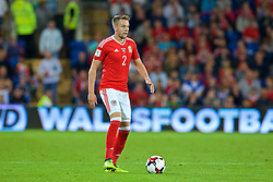 CARDIFF, WALES - Saturday, September 2, 2017: Wales' Chris Gunter during the 2018 FIFA World Cup Qualifying Group D match between Wales and Austria at the Cardiff City Stadium. (Pic by Paul Greenwood/Propaganda)