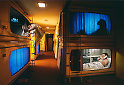 In the Ginza district Tokyo renting a capsule hotel room is about 1/3 the cost of a traditional room.