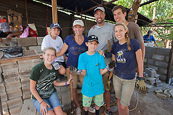Central America, Nicaragua, Granada, family building a house for volunteer project with Esperanza Granada